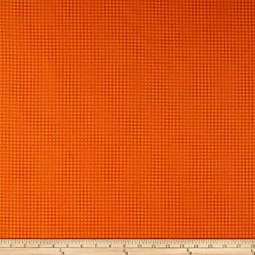Benartex Harvest Berry Blushed Houndstooth Orange Fabric Fabric by the Yard