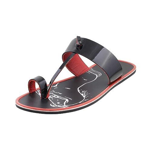 6dc403835aeea1 Metro Men s Black Sandals-9 UK India (43 EU) (16-8796-11-43)  Buy Online at  Low Prices in India - Amazon.in