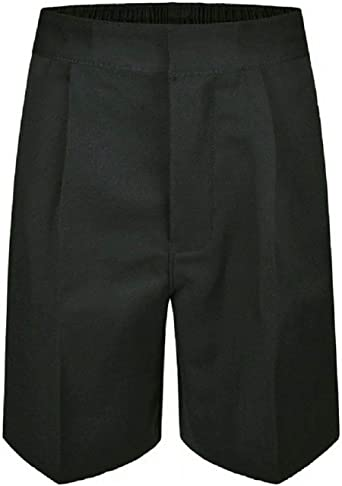 Eshoppingwarehouse Kids Plus Size School Uniform Sturdy Shorts Boys Half Elastic Waist Short Pants