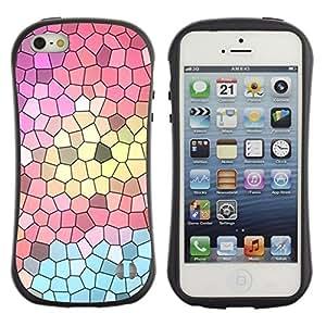 Suave TPU GEL Carcasa Funda Silicona Blando Estuche Caso de protección (para) Apple Iphone 5 / 5S / CECELL Phone case / / Church Polygon Art Abstract Teal Pink /
