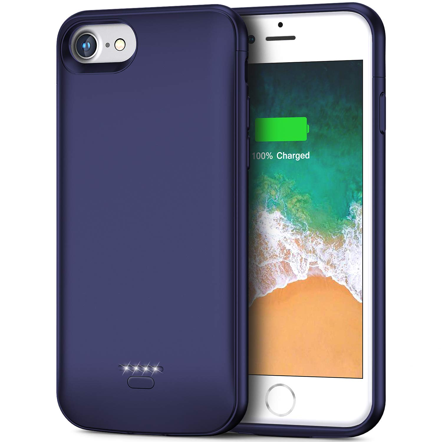 iPhone 6 6s Battery Case, 4000mAh Portable Protective Charging Case for iPhone 6 6s(4.7 inch) Extended Battery Charger Case (Blue) Smiphee