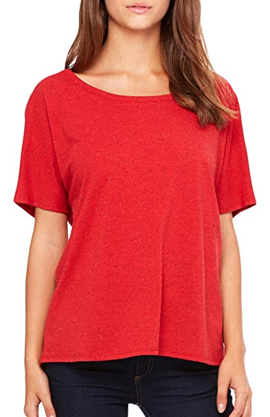 54a91f686 Bella + Canvas Womens Slouchy T-Shirt (8816) RED SPECKLED: Amazon.co.uk:  Clothing