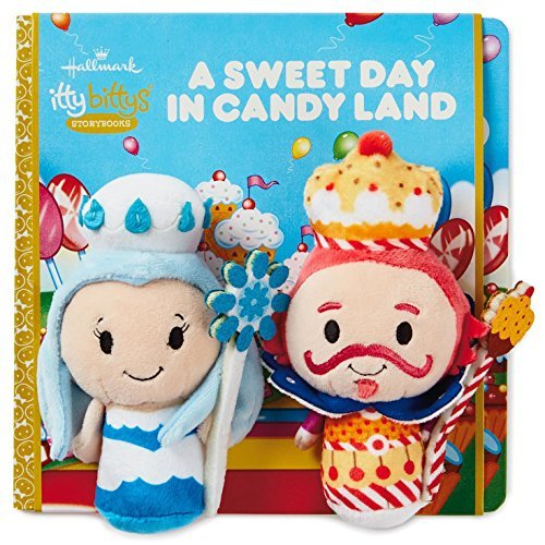 Hallmark itty bittys A Sweet Day in Candy Land Stuffed Animal and Storybook Set Itty Bittys Hobbies & Interests