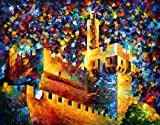 Jerusalem - Pallete Knife Original Recreation Oil Painting On Canavs By Leonid Afremov