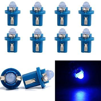 Grandview Azul B8.5D Instrumento cuña LED Salpicadero Bombillas 1 COB LED climático calentador controles
