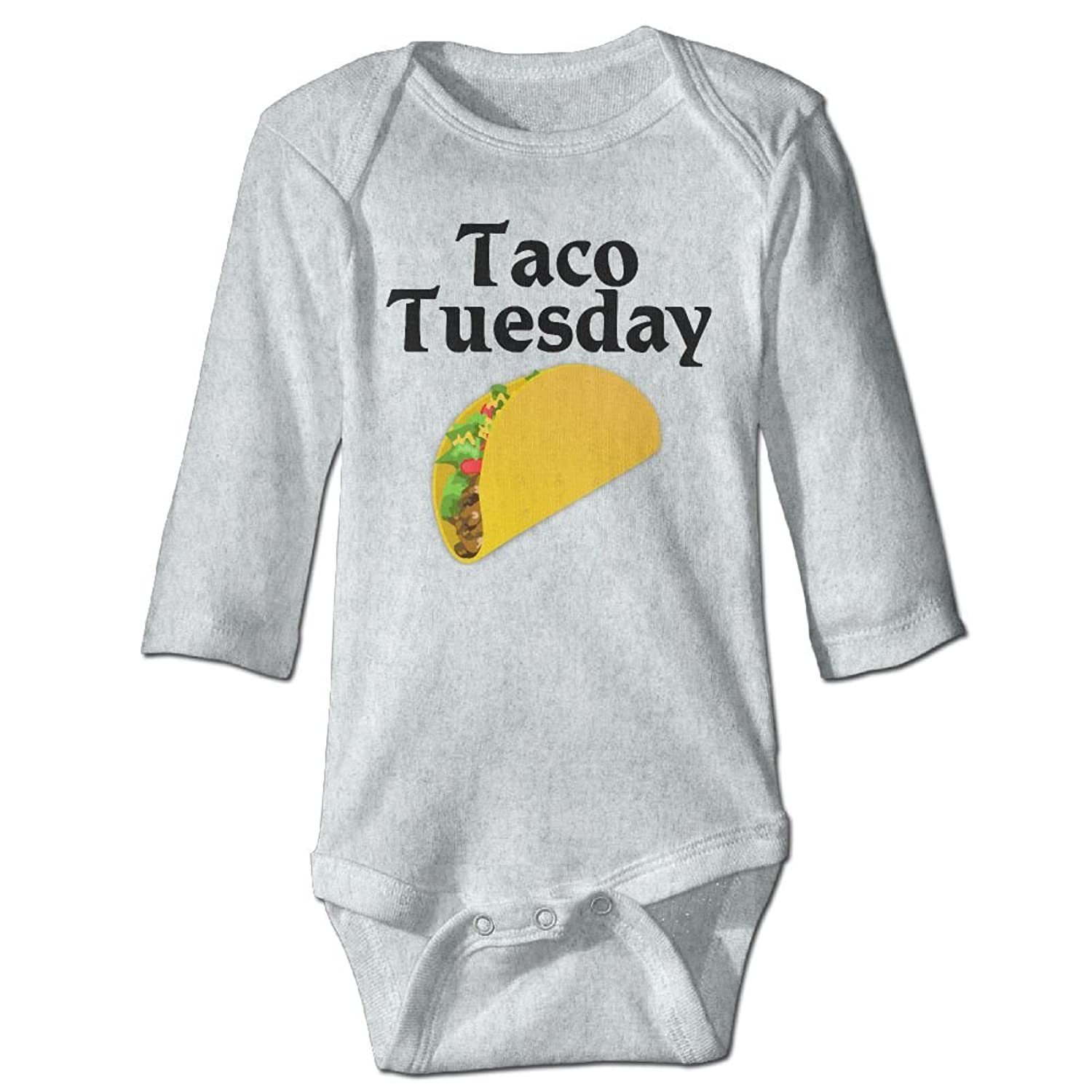 Amazon.com: Sicily54874 Taco Tuesday Design Climbing Suit Baby Long Sleeve For Toddler: Clothing