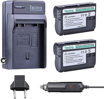 2 Pack EN-EL15 Batería Para Nikon D800 D800E D7000 D850