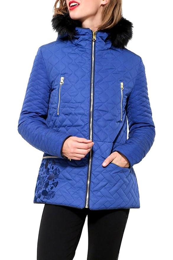 Vêtements Et Bleu Royal Fran 17wwewj6 Desigual Doudoune qz6XnX