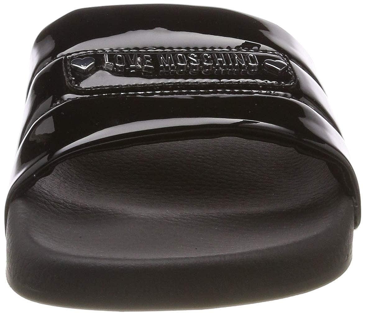 Estate pool25 Pu Moschino Specchio shoes Sabotd Amazon Love Neri Yfv7gyIb6m