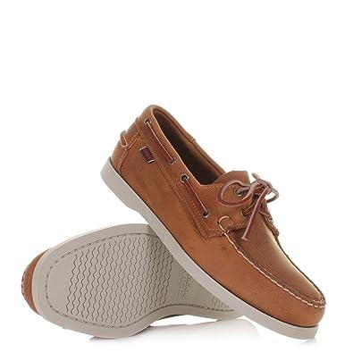 Men's Sebago Boat Deck Shoe Brown Leather Size 8