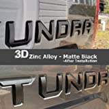 Easy Eagle 3D Metal Tailgate Insert Letters for Toyota Tundra 2014-2019 - Matte Black