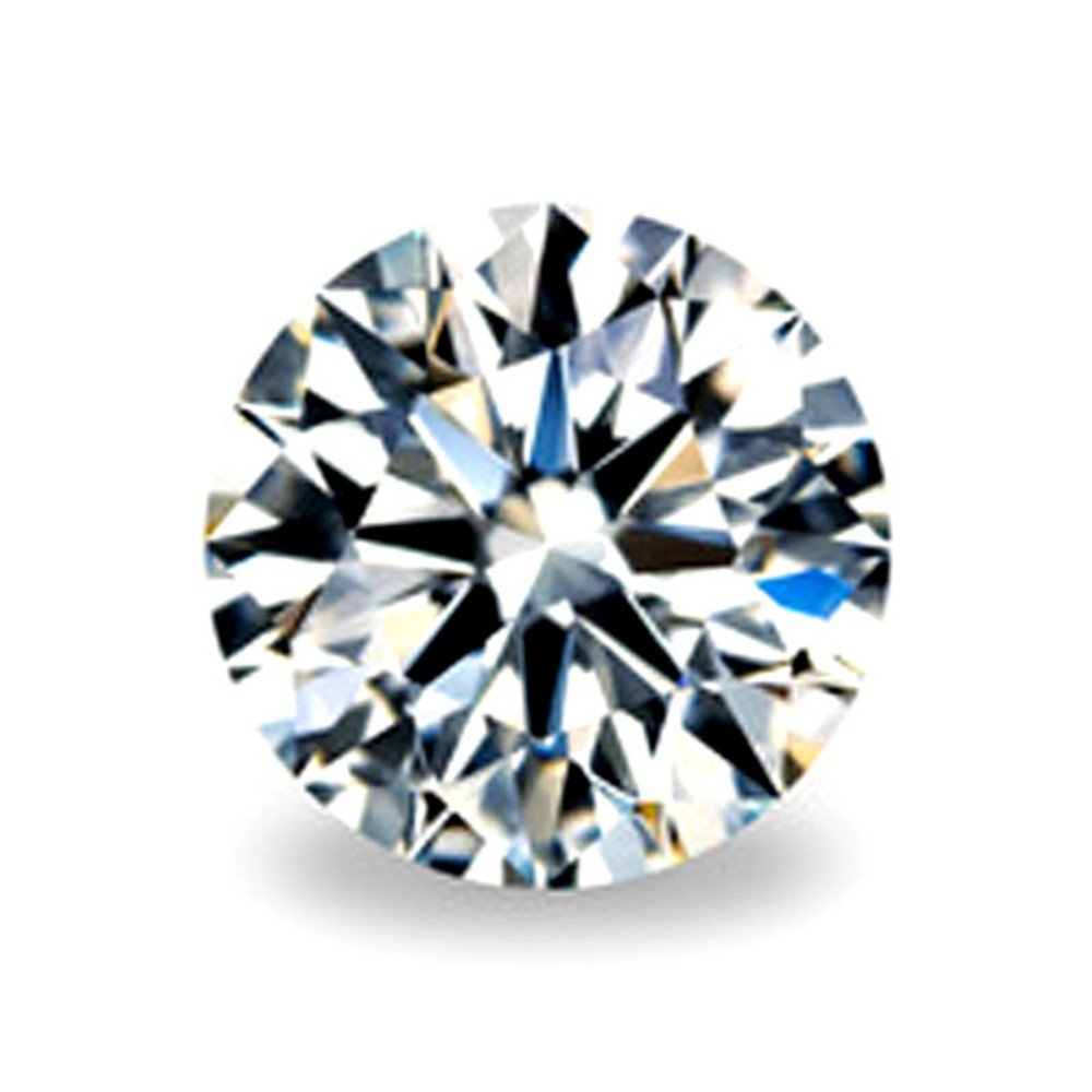 GemsIndustry 3m-12mm Moissanite Loose Stone GH Simulated Diamond Round Excellent Cut VVS1 Clarity moissanite (0.50)