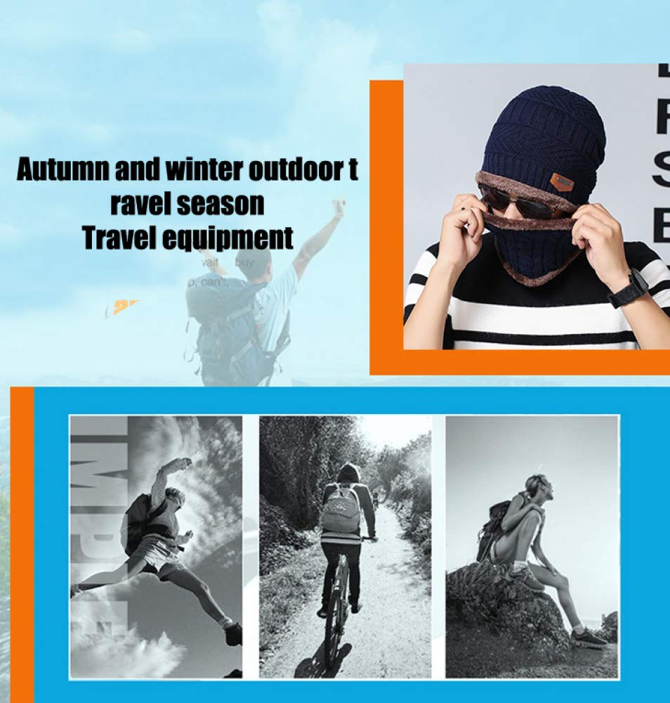 FKDG Winter Thermal Knitted Heanie Hat And Circle Scarf Set For Women//Men Warm Snood Suit For Indoors And Outdoor Sports,A-OneSize