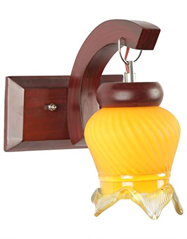 Gojeeva GOJ9105YELLOW 40-Watt Decorative Sconce Wall Lamp (Yellow) Wall Lights at amazon