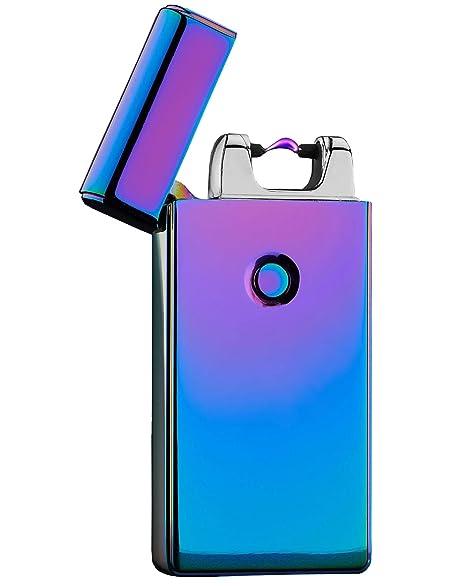 Encendedor de cigarrillo electrónico recargable USB encendedor a prueba de viento electrónico (colorido)