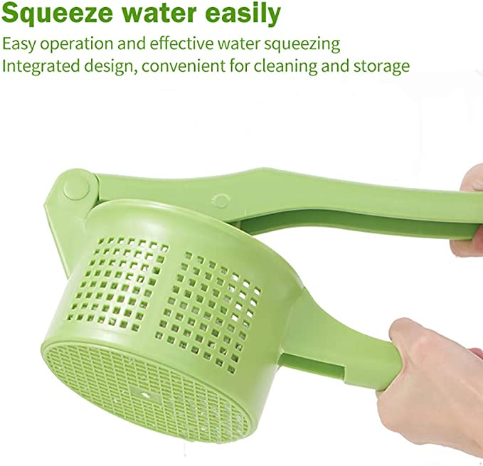Green Creative Pressing Vegetable Stuffing Squeezer Fruit Squeezing Tool Hand-Pressure Dehydration Tool for Kitchen Dining