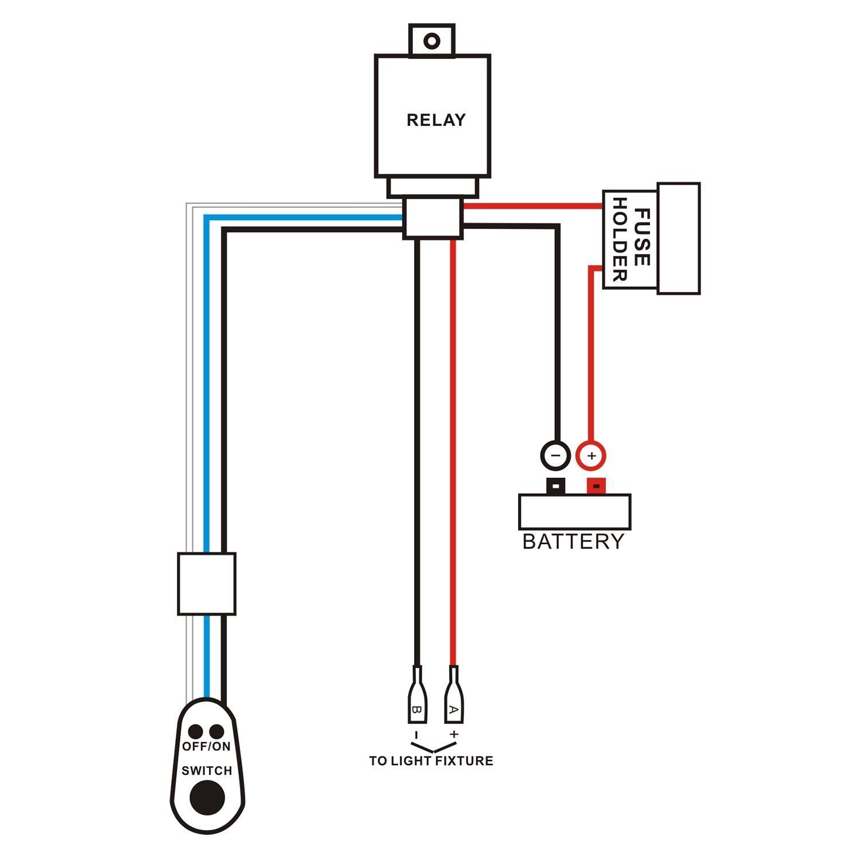 qdy remote wiring harness for led light bar with 12v 40a one line rh tibs com Wiring 12V LED Lights LED Light Bar Kit