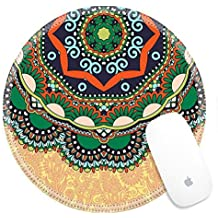 Luxlady Round Gaming Mousepad 32629993 floral round pattern in ukrainian oriental ethnic style for your greeting card or invitation template design for card vintage lace doily vector illustr