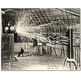 Nikola Tesla's Lightning Equipment - 11x14 Unframed Print