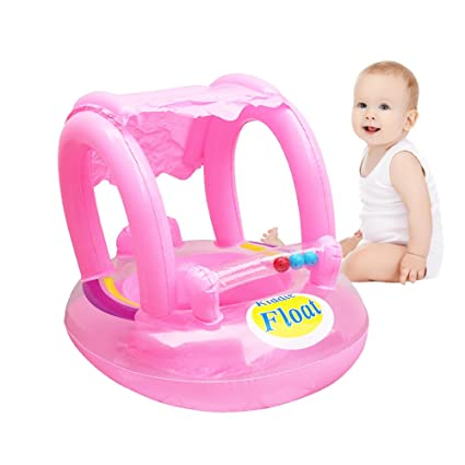 skyning Babys Seat, Inflatable Seat Cushion Portable Inflatable Baby Float Seat Baby Kids Swimming Seat