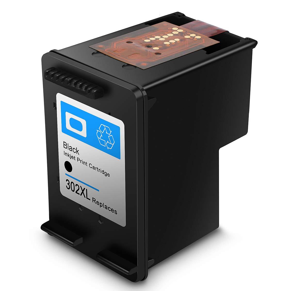Cartucho de Tinta regenerado HP 302 HP302 XL Cartuchos de Tinta de Alto Rendimiento para HP DeskJet, HP OfficeJet y HP Envy (1 Negro)