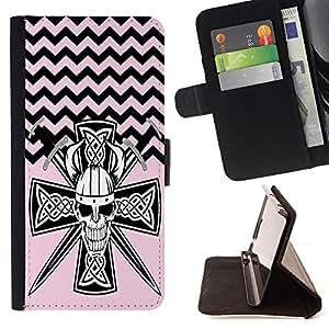 King Case - FOR HTC Desire 820 - Honesty is the best policy - Prima caja de la PU billetera de cuero con ranuras para tarjetas, efectivo Compartimiento desmontable y correa para la mu?eca