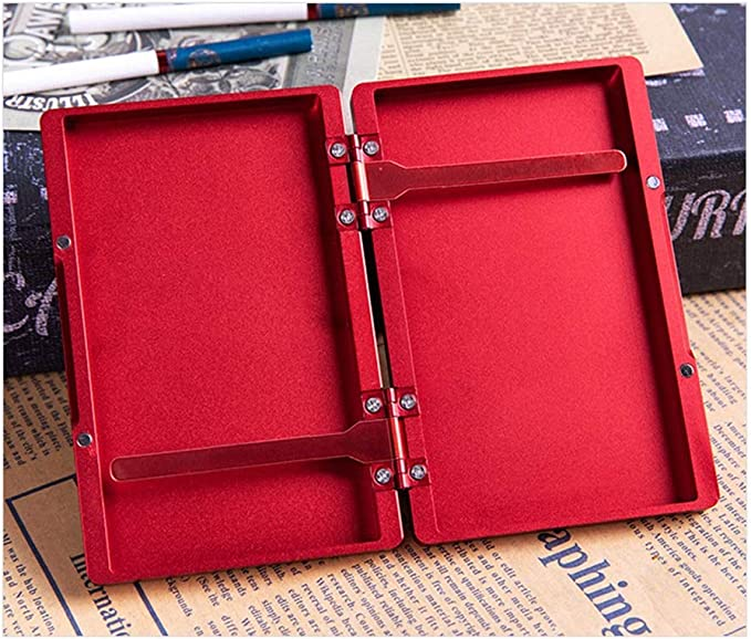 XIAOXIAO Caja de Cigarrillos Estuche De Cigarrillo Delgado De 20 Piezas para Mujer con Aleación De Aluminio Larga Estuche De Cigarrillo Portátil con Tapa Emergente Automática (Color : Gold): Amazon.es: Hogar