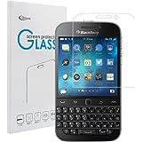BlackBerry Classic Q20 強化ガラスフィルム【Qosea】BlackBerry Classic Q20 液晶保護フィルム 硬度9H 指紋防止 飛散防止 超薄0.3mm 2.5D ラウンドエッジ加工 (BlackBerry Classic Q20, 強化ガラスフィルム)