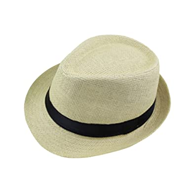 a0e01ae3473 Leisial Women Lady Sun Hat Wide Brim Solid Color Elegant Straw Beach Cap  Soft and Breathable