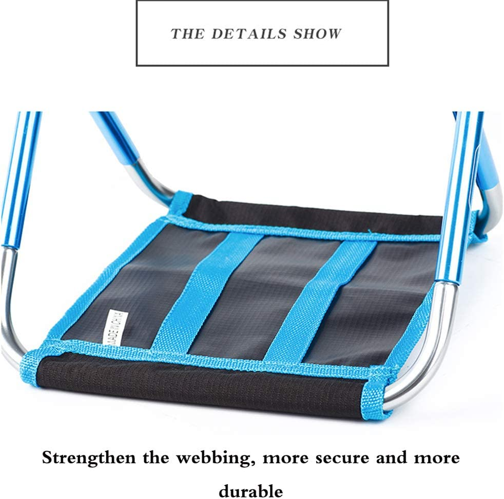 ZHHAOXINFC Portable Folding Chair, Compact Simple Storage, Foldable Seat, Outdoor, Fishing, Festival, Beach, Camping, Camp, Picnic, Hiking, Lightweight Portable Lightweight A
