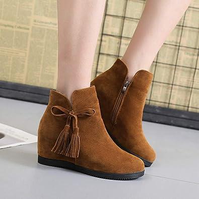 Botte De Pluie Femme❤️Ariat Boots Femme Bottines Chelsea,Beautyjourney  Quechua Chaussures Talons en Daim Cheville Glands Occasionnels Chaussures  Martin ... aa0038ee14d1