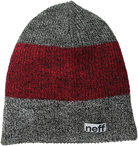 neff Trio Beanie Hat, -Black/Maroon/Charcoal, One Size