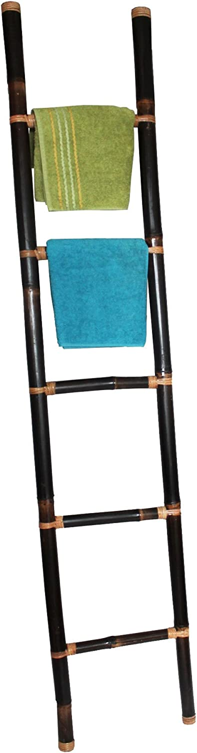 Color CO decorativa toallero, bambú escalera marrón oscuro 190 cm: Amazon.es: Hogar