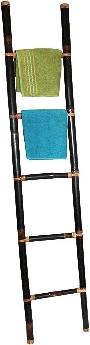 Color CO decorativa toallero, bambú escalera marrón oscuro 190 cm: Amazon.es: Hogar