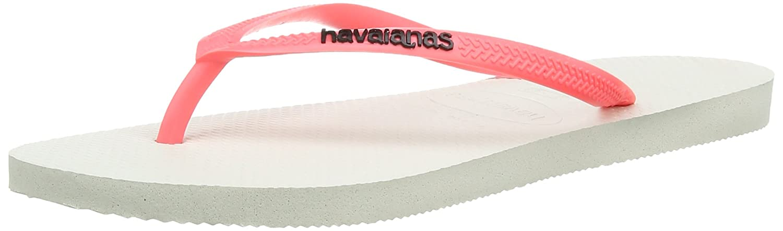 Havaianas Slim Logo, Chanclas para Mujer, Blanco (Coral), 43/44 EU (41/42 Brazilian): Amazon.es: Zapatos y complementos