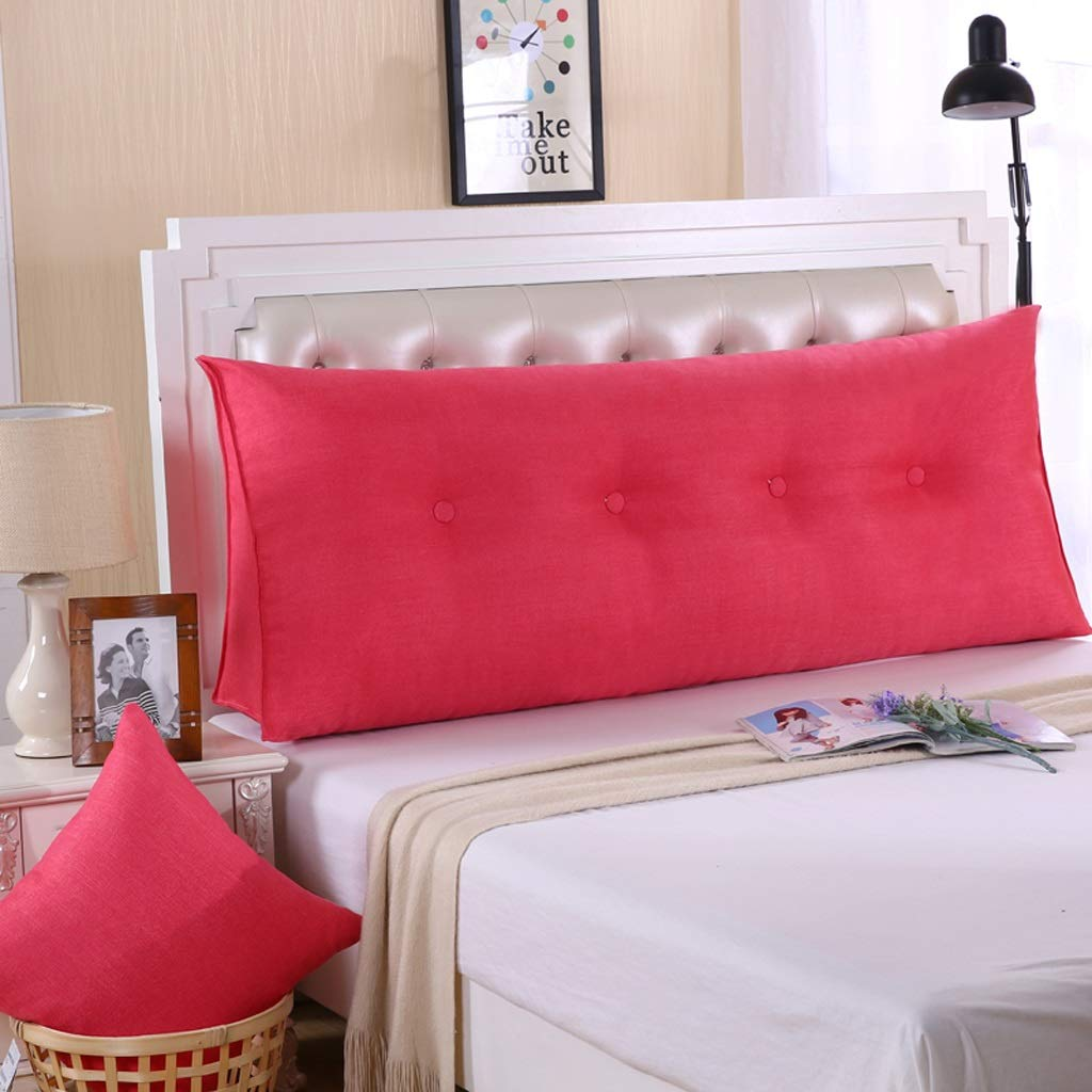 QYSZYG Cotton Double Bed Head Large Pillow Triangle Cushion Removable Bed Large Back Soft Bag Neck Pillow Bedside Large backrest (Color : D, Size : 200 * 50 * 20cm)
