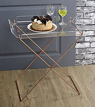 ComfortScape Contemporary Acrylic Serving Tray Table