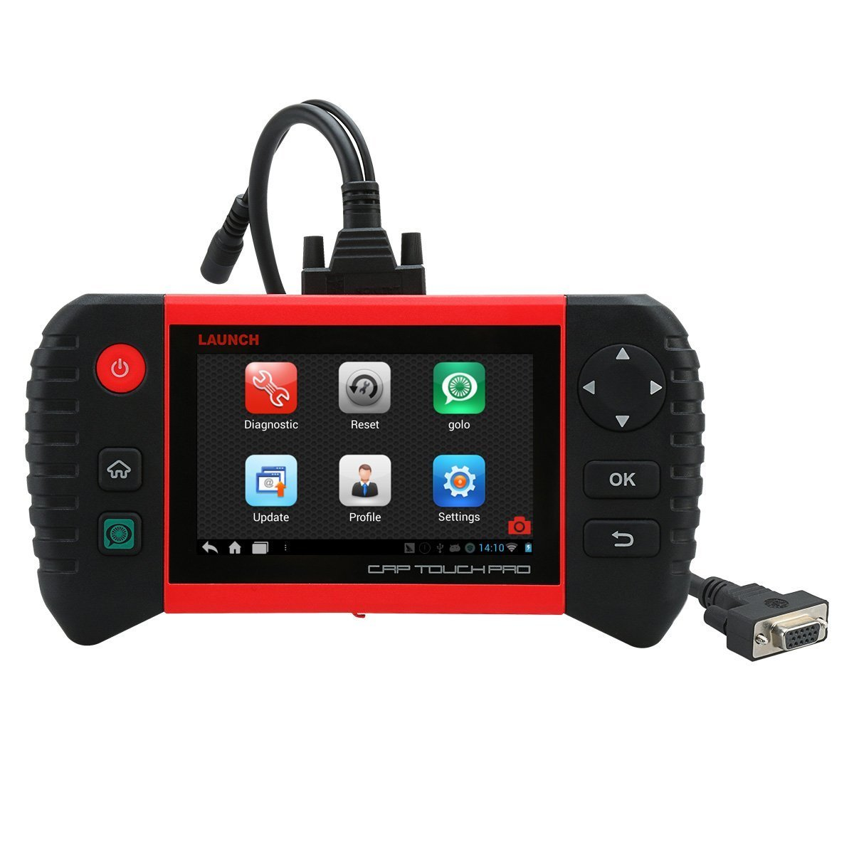 LAUNCH CRP Touch Pro OBD2 Scanner Code Reader Diagnostic Scan Tool Android-Based Wi-Fi Enabled 5.0-Inch Touch Screen with ABS SRS SAS EPB BMS DPF Oil Reset