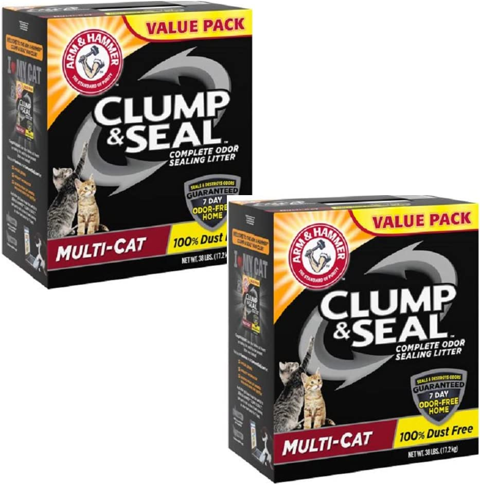 Hammer Arm Multi-Cat Clump & Seal Clumping Litter (76 lbs)