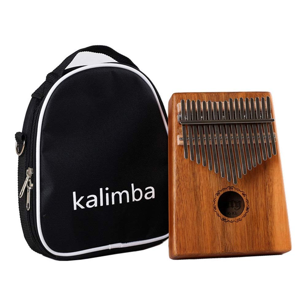 Thumb Piano Portable 17 Keys Kalimba Thumb Piano Standard C Tune Finger Piano Mahogany Wood Body Metal Tines With Tuning Hammer Carry Case African Musical Instrument Kids Gifts Music Lovers Beginners