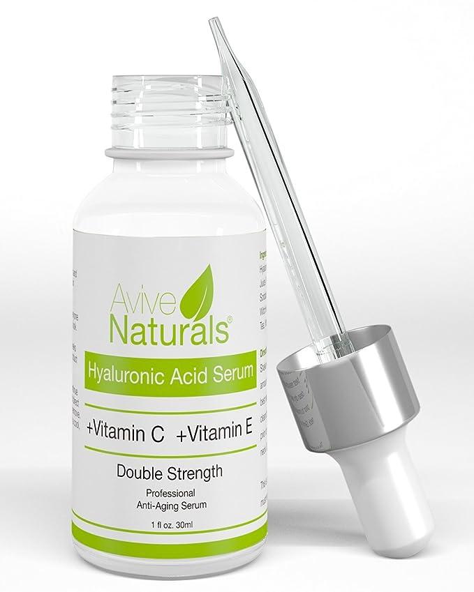 Frasco de sérum de ácido hialurónico orgánico, ideal para reducir arrugas, rejuvenecimiento de la piel, crema hidratante para cara y cuello, ...