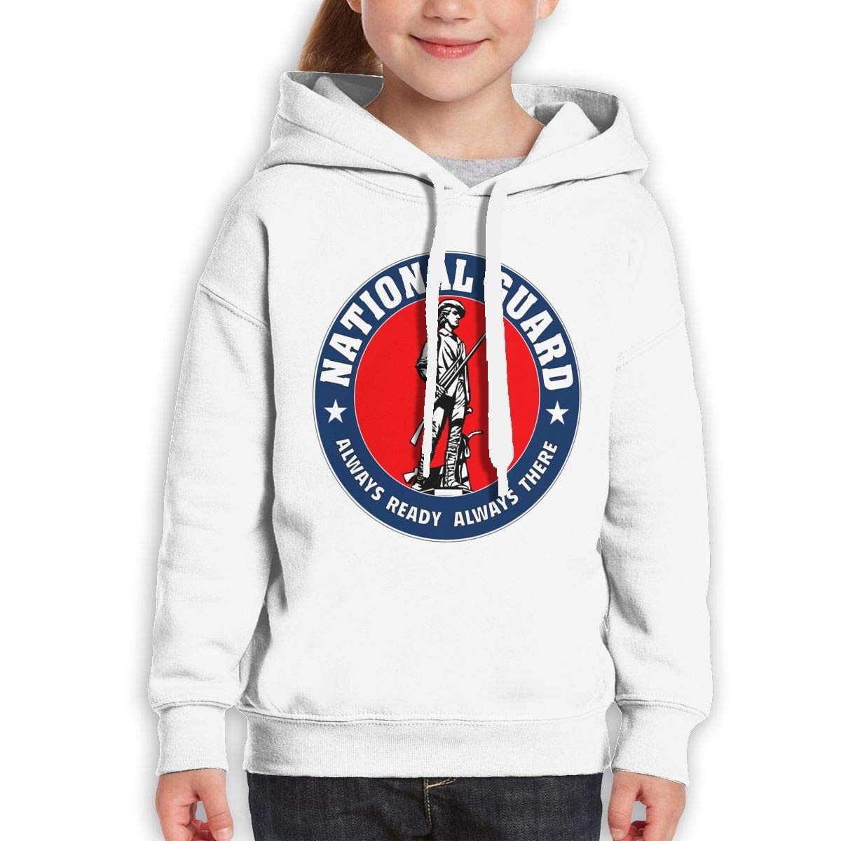 Boys Girls Seal of The United States National Guard Teen Youth Hoody Black
