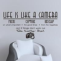English Camera Living Room Bedroom Wall Stickers