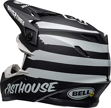 Bell Helm Moto 9 Mips Fasthouse Signia Matt Schwarz Weiß S Auto