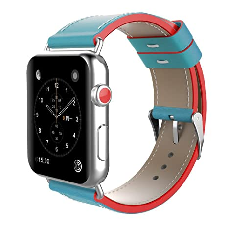 Pawaca Genuine Leather Replacement Band Strap 38mm/42mm For Apple Watch Band IWatch Nike Sport Edition Series 1 2 3