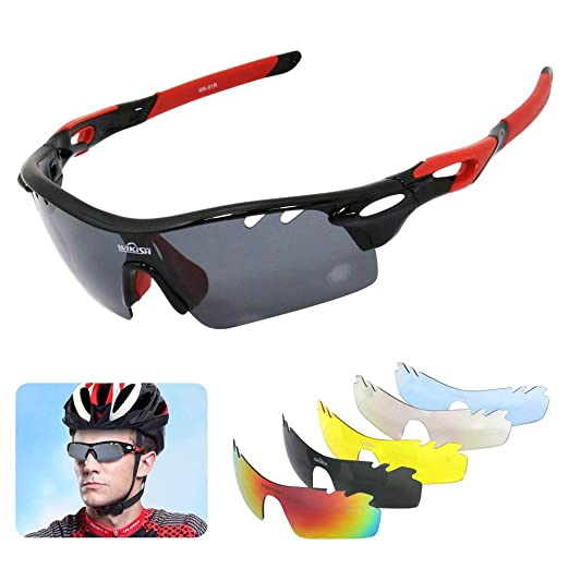 SAVA Polarized Cycling Sunglasses UV400 Outdoors Sports Glasses With 5 Lenses
