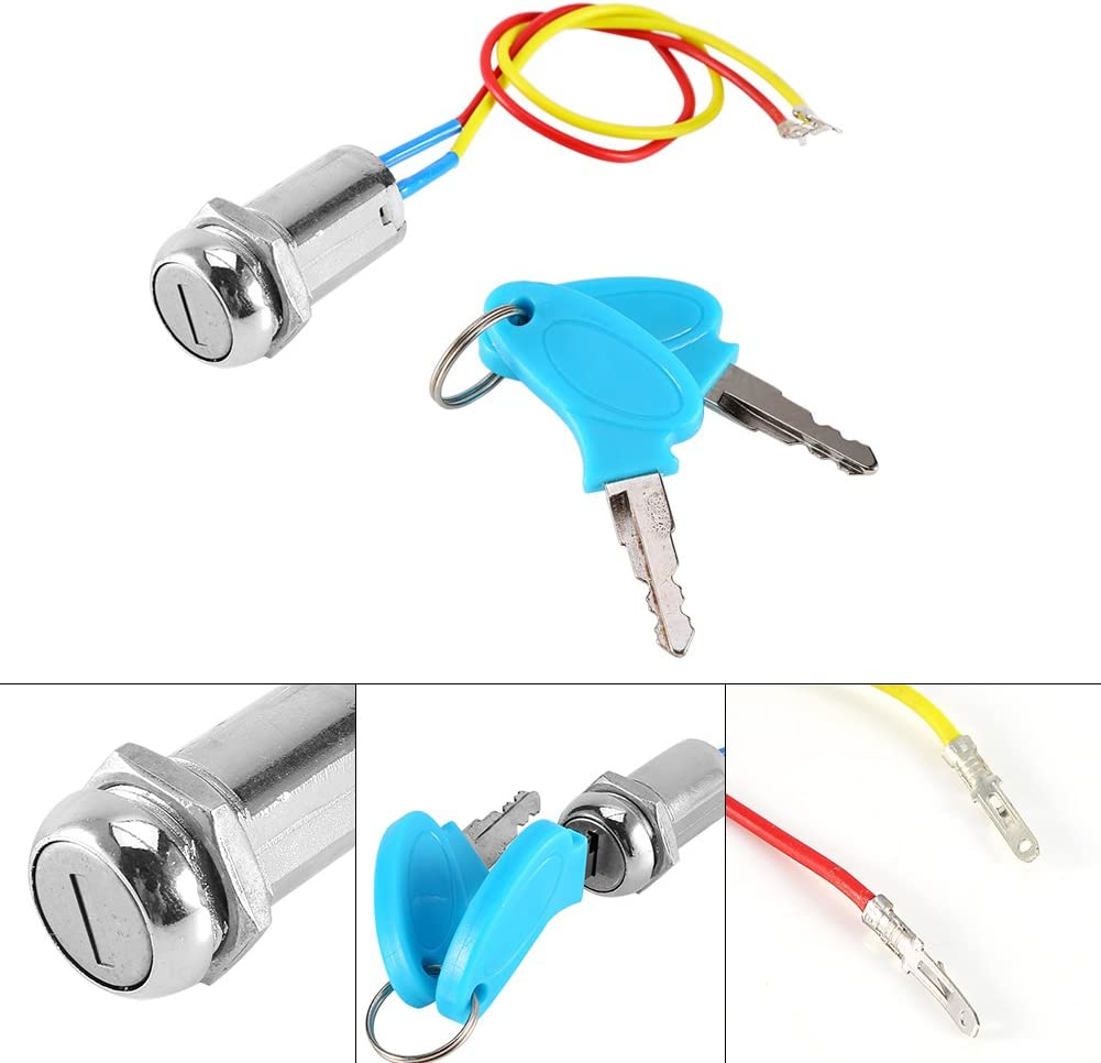 Electrombile Karting Keenso Motorcycle Ignition Starter SwitchUniversal for Scooter Folding bicycles 2 Wire Ignition Key Switch Lock AVT