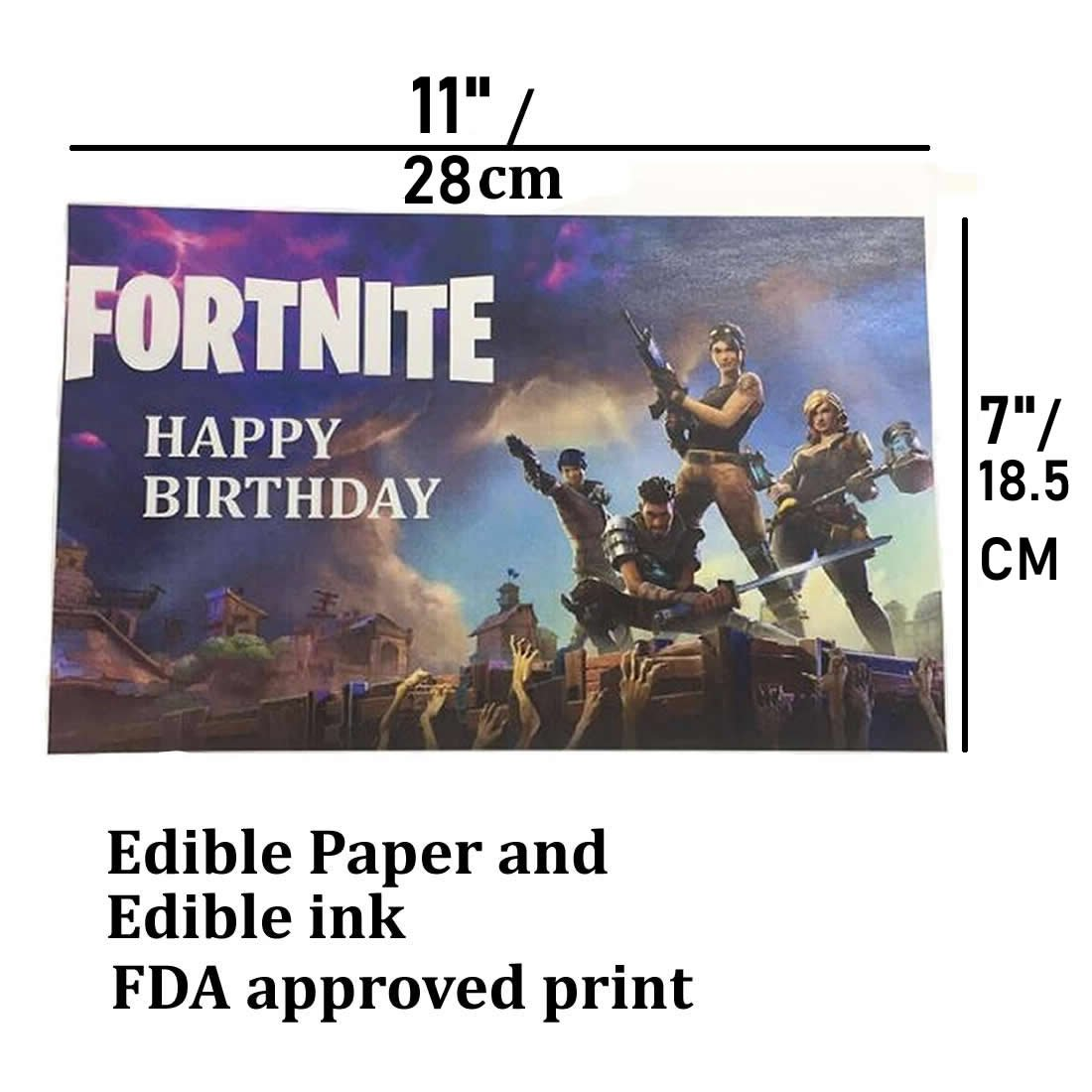 GEORLD Fortnite Battle Edible Image Cake Topper 1/4 Sheet Birthday Party Decoration,NO NAME Printed by GEORLD (Image #2)