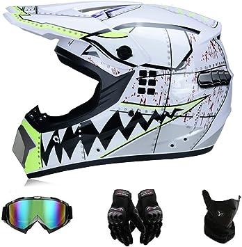Gd Sjk Motocross Helm Adult Off Road Helm Mit Windschutzmaske Brille Unisex Motorradhelm Cross Helme Schutzhelm Atv Helm Für Männer Damen Sicherheit Schutz Weiß S Auto