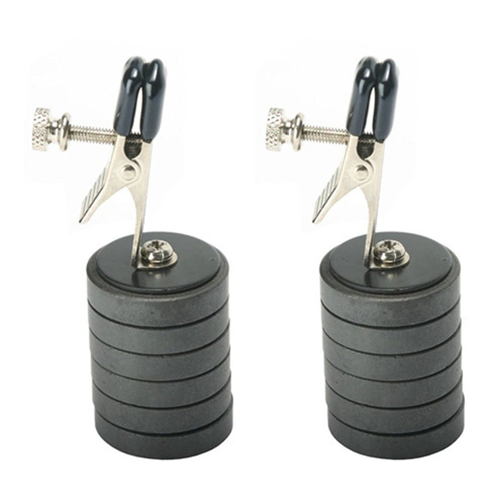 EDTara 2PCS Weights Magnet Clip Adjustable Alligator Tipped Nipple Clamps BDSM Adult Game for Female